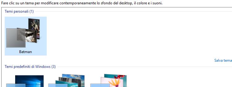 Come cambiare lo sfondo su windows 10